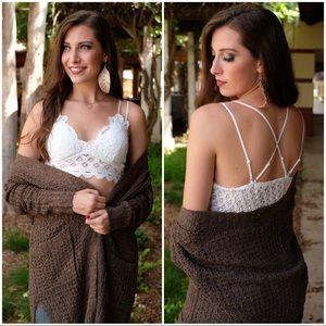 Infinity Raine Intimates & Sleepwear - ✨RESTOCKED✨Lace Bralette with padding-White